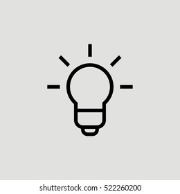 Bulb Lamp Idea Outline Vector Icon