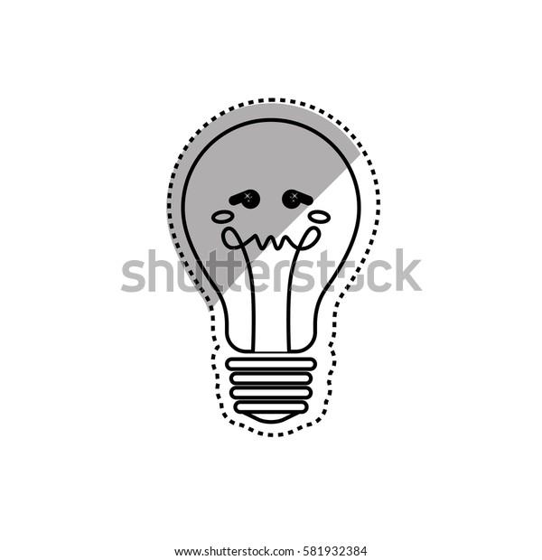 Bulb light cartoon icon vector illustration graphic design