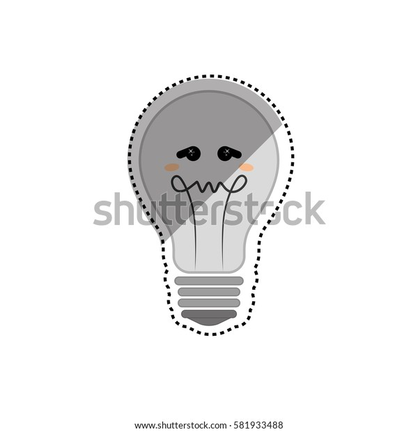 Bulb light cartoon icon vector illustration graphic design