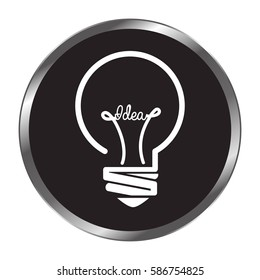bulb light education icon