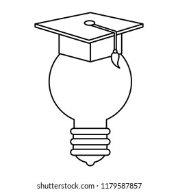 bulb light with hat graduation