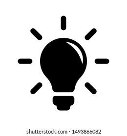 Bulb light vector icon. Lighting Electric lamp illustration symbol. Idea sign or logo.