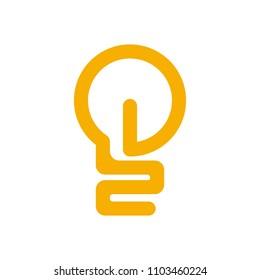 bulb logo. light icon. bright symbol. vector eps 08.