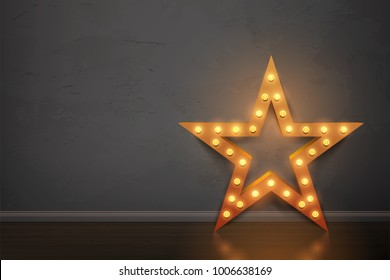 Bulb star in room