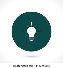 bulb vector icon 10 eps , Lorem ipsum Flat design