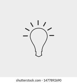 bulb vector icon illustration design grey background