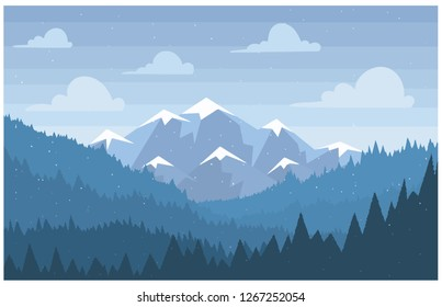 bule mountain Landscape Vector