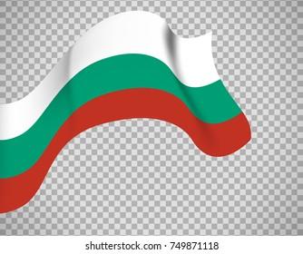 Bulgaria flag icon on transparent background. Vector illustration