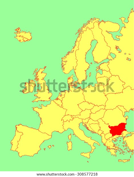 bulgaria map in europe Bulgaria Vector Map Europe Vector Map Stock Vector Royalty Free bulgaria map in europe