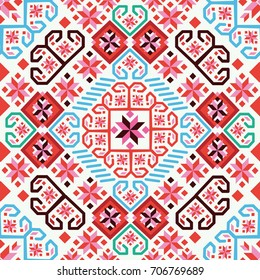Bulgarian embroidery pattern. Vector pattern with stylization of bulgarian embroidery.