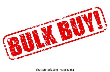 BULK BUY red stamp text on white