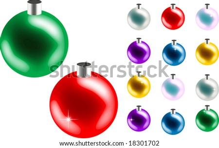 Bulk Christmas Ornaments Stock Vector Royalty Free 18301702