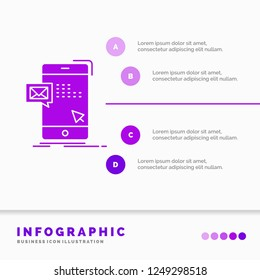 bulk, dialog, instant, mail, message Infographics Template for Website and Presentation. GLyph Purple icon infographic style vector illustration.