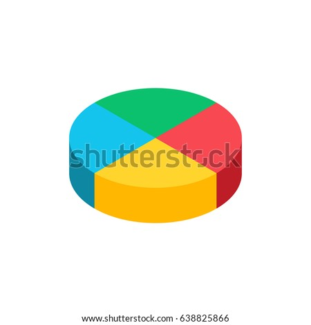 bulk isometric pie graph template realistic stock vector royalty