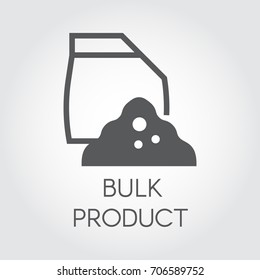Bulk products in paper bag. Flat icon of cookery and kitchen theme. Simple logo or button for cooking websites, online shops, mobile apps and other design needs. Vector illustration