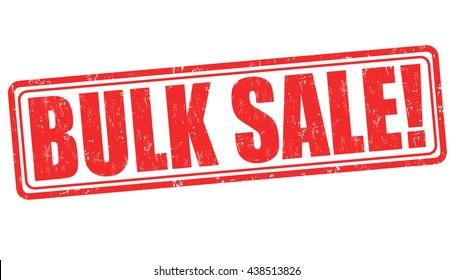 Bulk sale grunge rubber stamp on white background, vector illustration
