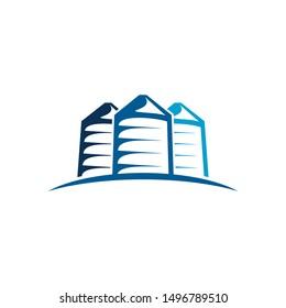 bulk silos logo blue white