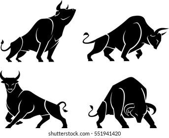 Bull Abstract Set