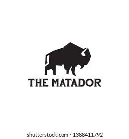 Bull / bison design logo vector template