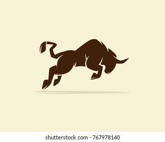 Bull or buffalo, silhouette of a bull, bull vector