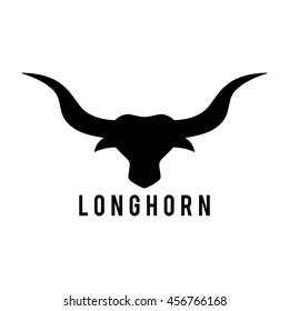 Bull Head emblem template for business. Vector illustration. Western Concept. Financial Business Logo