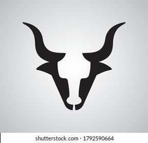 Bull Head Front Abstract Illustration