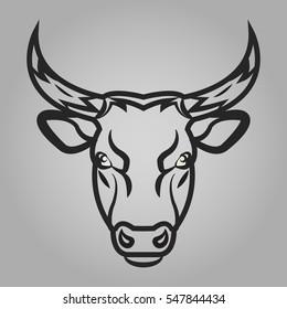 Bull head icon. Animals symbol vector illustration