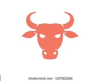 Bull head logo. Bull icon isolated on white background