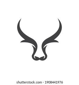 Bull head logo images illustration design