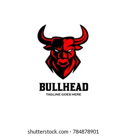 Bull Head Logo Vector