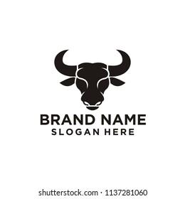 bull head logo vector illustration