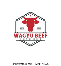 Bull Head Vector for Beef Wagyu Logo