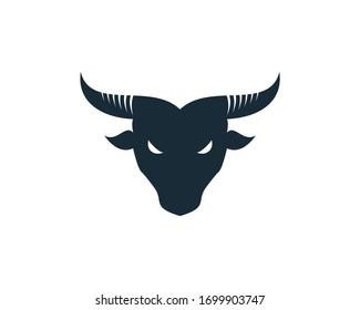 Bull Horn Icon Vector Logo Template Illustration Design