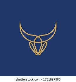 bull horn logo icon vector isolated