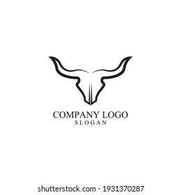 BULL Horn Logo Template vector icon illustration design