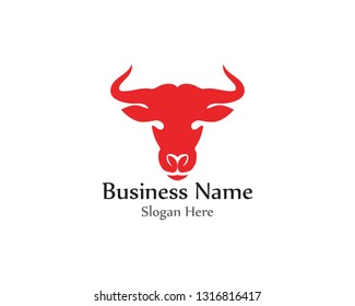 Bull horn red logo and symbols template icons app