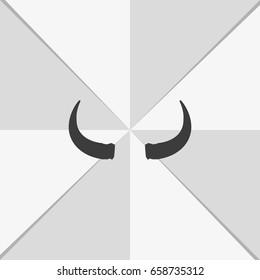 Bull horns icon.