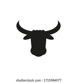Bull icon. Vector illustration isolated on white background.