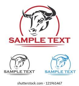 Bull label - vector illustration