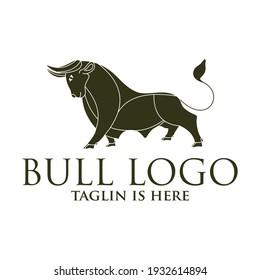 bull line toro art outline monoline linear logo vector icon, Angry Bull or Taurus Logo Mascot. Vector Illustration.