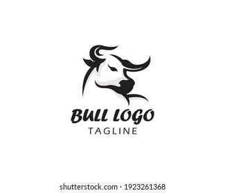 bull logo animal wild logo art vecktor simple