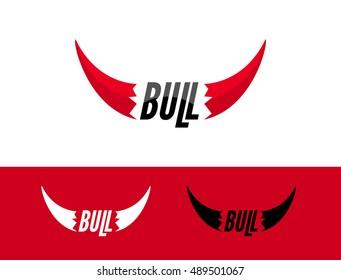 Bull logo design template. Flat bull logo sign. Taurus symbol element vector.
