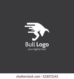 Bull Logo Design Template. Vector Illustration