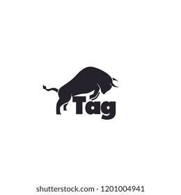 bull logo shilouette angry. Vector Illustration EPS10