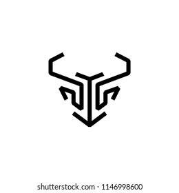 Bull logo template