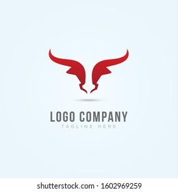 bull logo template vector element