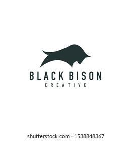 bull logo, vector animal flat shape
