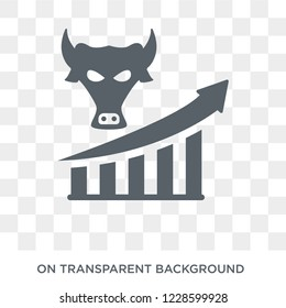 Bull market icon. Bull market design concept from Bull market collection. Simple element vector illustration on transparent background.