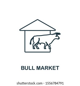 Bull Market icon outline style. Thin line creative Bull Market icon for logo, graphic design and more.