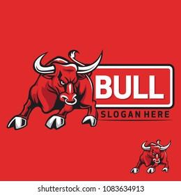 Bull mascot logo
